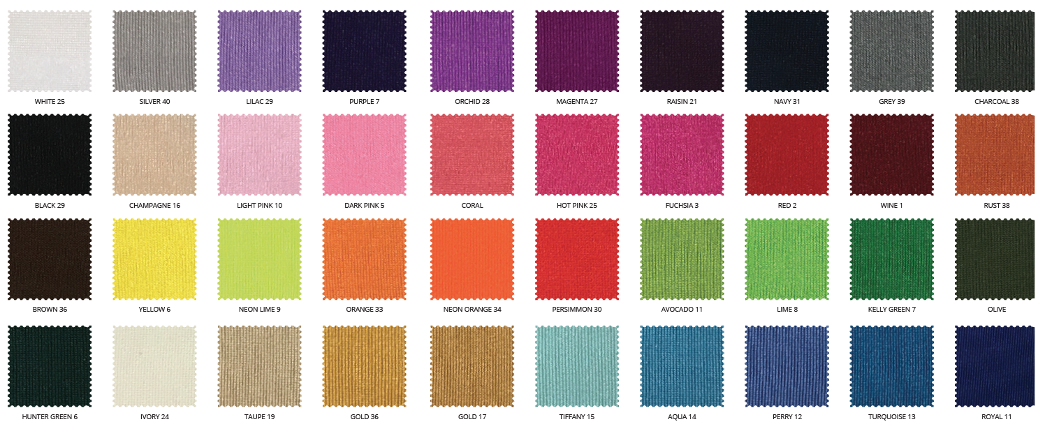 Cushion Color Options